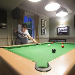 Pool table at The Rose Inn Ashford